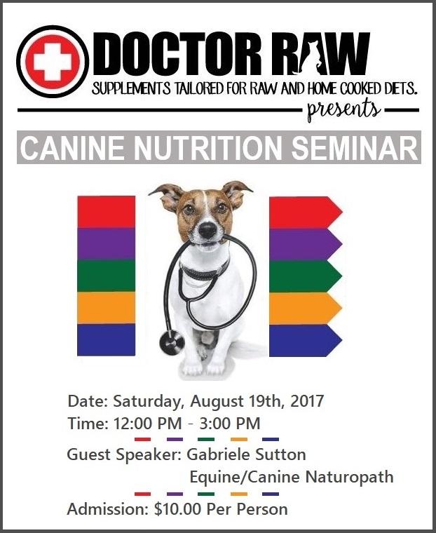 Doctor Raw, Dr. Raw, dog nutrition seminar, seminar mississauga ontario  Doctor Raw Nutrition Seminar Doctor Raw Seminar 2017 08 19 1