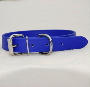 TEAM-K9 Dog collar biothane collar for medium/large dog – blue Biothane Collar for Medium/Large Dog – Blue Biothane Collar Blue Large Dog 300x291