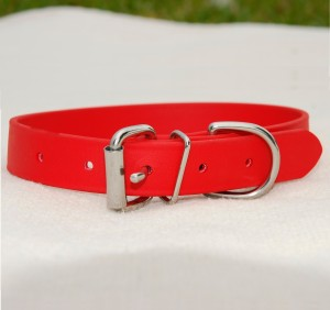 biothane collar for medium/large dog – red Biothane Collar for Medium/Large Dog – Red Biothane Collar Red Large Dog 300x282