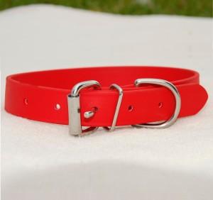 biothane collar for medium/large dog – red Biothane Collar for Medium/Large Dog – Red Biothane Collar Red Large Dog 300x282