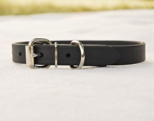 biothane collar for small/medium dog - black Biothane Collar for Small/Medium Dog – Black Biothane Collar Regular 300x237