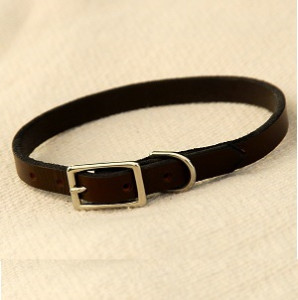 soft leather collar - brown Soft Leather Collar – Brown Soft Leather Collar Brown1 298x300