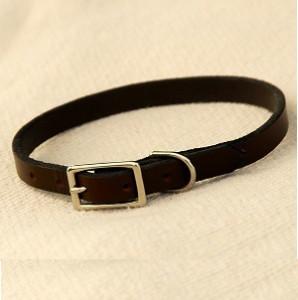 soft leather collar - brown Soft Leather Collar – Brown Soft Leather Collar Brown1 298x300