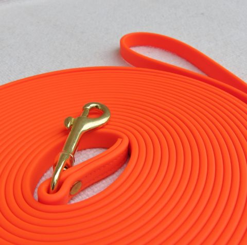 dog leash, Biothane leash, protection leash, do training leash, protection lead biothane ipo tracking police dog tracking leash 33 ft Biothane IPO Tracking Police Dog Tracking Leash – Orange Biothane Tracking Leash Orange 1 480x476