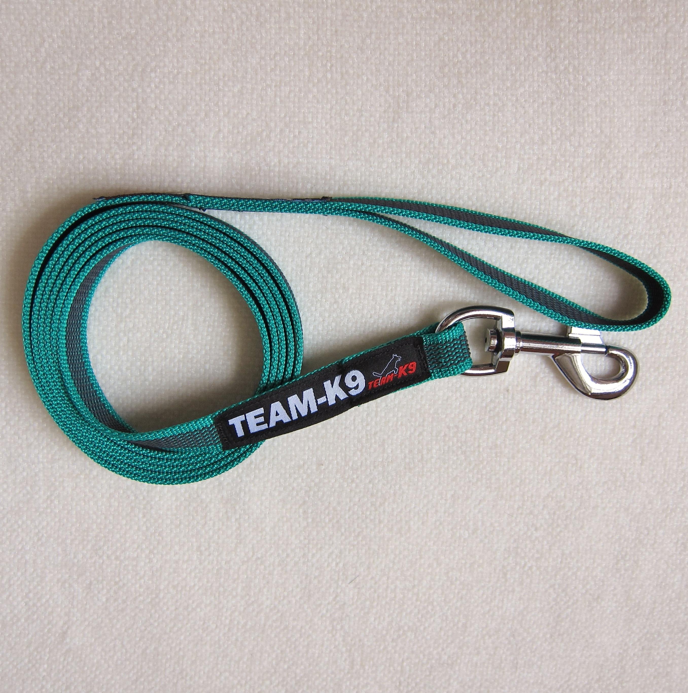 dog leash, dog leashes, green dog leash, dog training, quality dog leash, IPO, TEAM-K9, textil wide rubber, mississauga, ontario, oakville, brampton, toronto, GTA