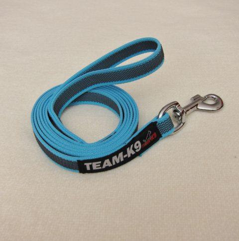 dog leash, dog leashes, blue dog leash, dog training, quality dog leash, IPO, TEAM-K9, textil wide rubber, mississauga, ontario, oakville, brampton, toronto, GTA