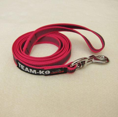 dog leash, dog leashes, pink dog leash, dog training, quality dog leash, IPO, TEAM-K9, textil wide rubber, mississauga, ontario, oakville, brampton, toronto, GTA
