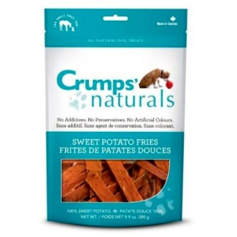 crumps, dog treats, sweet potato fries, mississauga crumps' naturals Crumps' Naturals Sweet Potato Fries Crumps Sweet Potato Fries 480x481