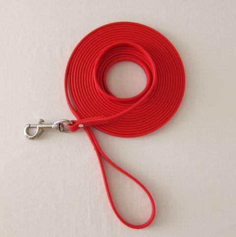 TEAM-K9, dog leash, long leash, long lead, protection training leash, tracking leash, 20 ft leash, Biothane leash, mississauga biothane protection training leash 20 ft Biothane Protection Training Leash – Red TEAM K9 Biothane 20ft Leash Red 480x481