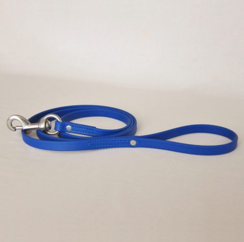 TEAM-K9, dog leash, Biothane leash, dog training leash, light weight leash, mississauga biothane city walk traffic lead - blue Biothane City Walk Traffic Lead – Blue TEAM K9 Biothane Leash Blue 480x477