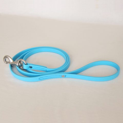 TEAM-K9, dog leash, Biothane leash, dog training leash, light weight leash, mississauga biothane city walk traffic lead - light blue Biothane City Walk Traffic Lead – Light Blue TEAM K9 Biothane Leash LightBlue 480x480