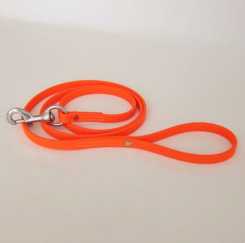 TEAM-K9, dog leash, Biothane leash, dog training leash, light weight leash, mississauga biothane city walk traffic lead - orange Biothane City Walk Traffic Lead – Orange TEAM K9 Biothane Leash Orange 480x476
