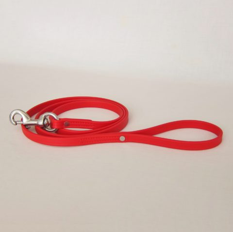 TEAM-K9, dog leash, Biothane leash, dog training leash, light weight leash, mississauga biothane city walk traffic lead - red Biothane City Walk Traffic Lead – Red TEAM K9 Biothane Leash Red 480x479