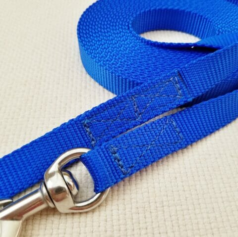 blue leash, protection dog training, protection leash, 20 foot leash, TEAM-K9