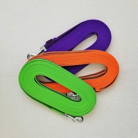 tracking leash, 33 feet leash, rubberized nylon leash, TEAM-K9 rubberized nylon tracking leash Rubberized Nylon Tracking Leash 20 mm 10 M Rubberized Tracking Leash 480x481