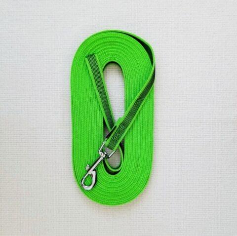 tracking leash, 33 feet leash, rubberized nylon leash, TEAM-K9
